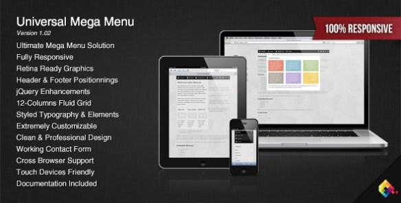 Universal Responsive Mega Menu - CodeCanyon Item for Sale