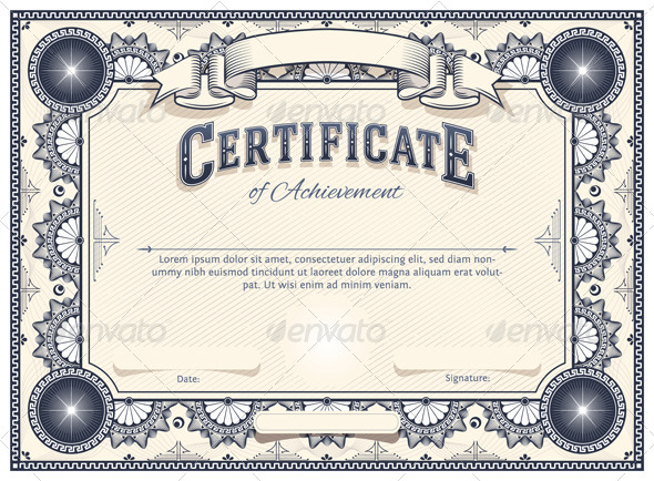 Vector Certificate Templates   Blogographic