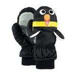 Barts nylon mitt 3D wanten kids pinguïn