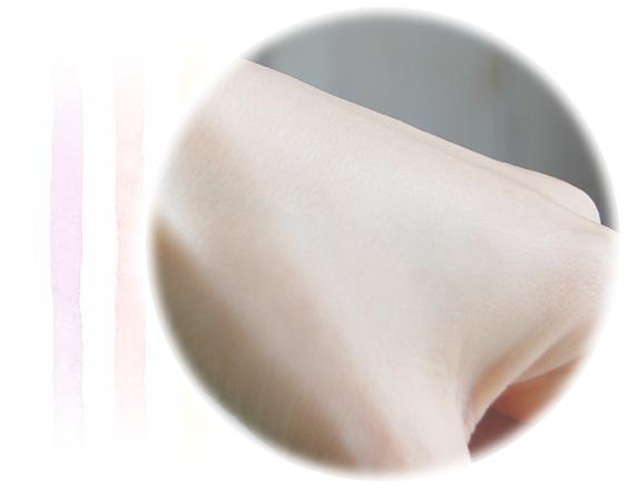 薬用アットベリージェルを使用後の肌