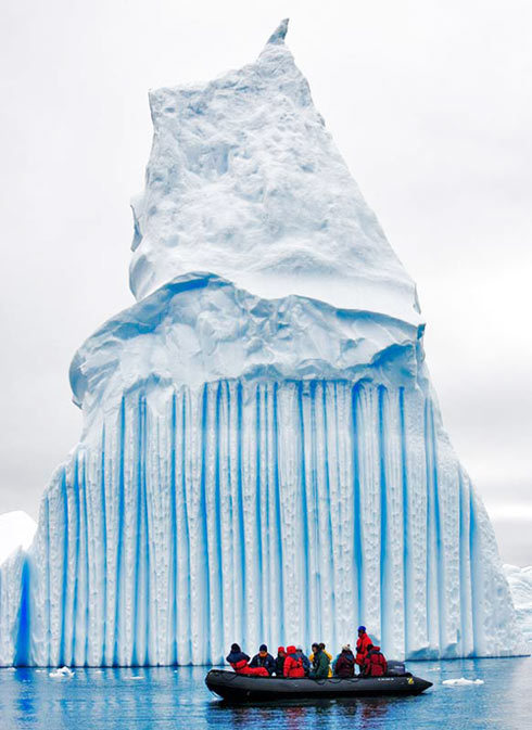 Antarctic Icebergs make their own art