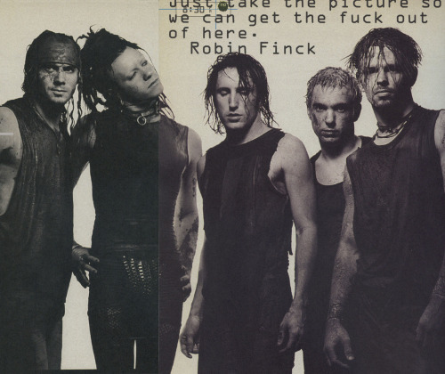 Chris Vrenna (second from right) with Nine Inch Nails, Woodstock 1994