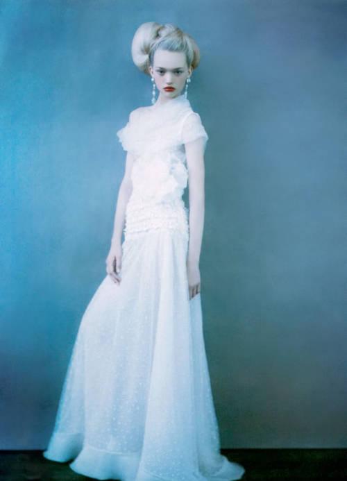 Future lacy wedding dress