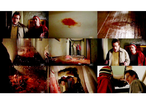 """Walter: I'm sorry, what were you asking me? Oh, yes, that stupid  plastic container I asked you to buy. You see, hydrofluoric acid won't  eat through plastic. It will, however, dissolve metal, rock, glass,  ceramic. So, there's that.  Breaking Bad 1.02 - """"The Cat's In The Bag"""""""