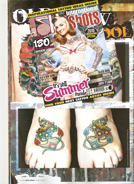Tattoo featured in Skin Shots - Issue 71 Oct 2010
