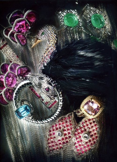 "facetedpost: ( My sterling chain bib from Cosmic Samurai collection!)  From WWD Accessory V. 201 No. 68 / Available April 2011 / ""Bold Measures"" (Photographed by Mario Godlewski and Styled by Roxanne Robinson-Escriout)"