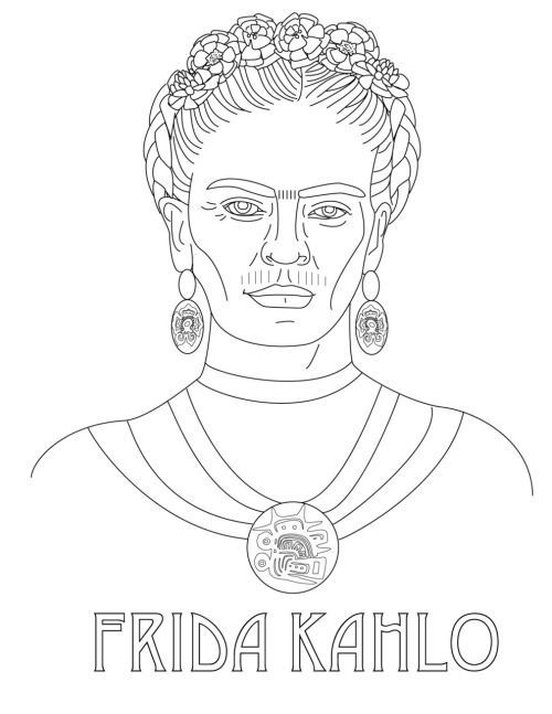 Frida Kahlo free embroidery pattern by Scarlet Tentacle