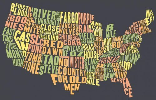 Map of the United States by movie. Thinking outside the box…very creative.
