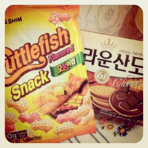 Korean snacks bought in a Japanese market.edit: is it too funny to tag this as Korean cuisine? ;)(Taken with instagram)Check out more posts from this collaborationHERE.Check out the other collaborators' blogshere.Check outThe Korea Blog!