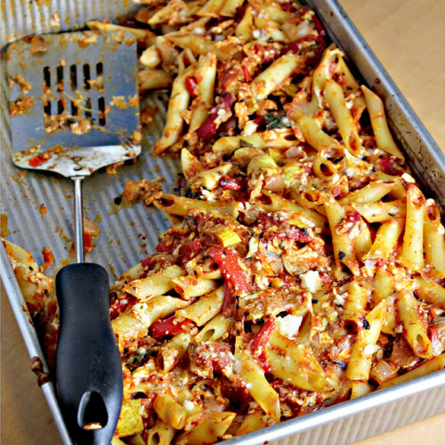 Baked Penne with Roast Veg