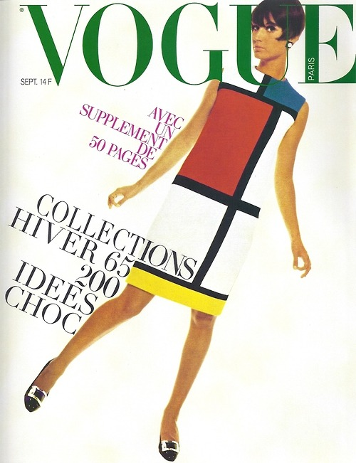 Mondrian dress, Vogue Paris, September 1965