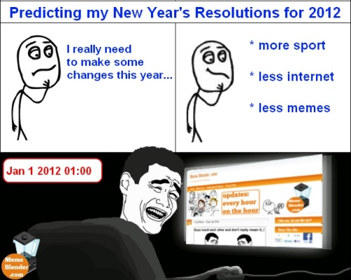 ragecomicarchive:  Meme Comic - New Year's Resolution Submitted by Pete