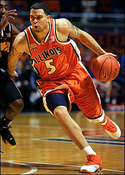 Deron Williams in his Illinois orange. pointgod:  Derron Williams Illinois