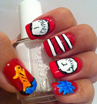 Look at Beautylish Beauty Rachel G.'s cute Dr. Suess inspired nails!