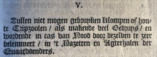 Artikel V pamflet instructies klapperlieden