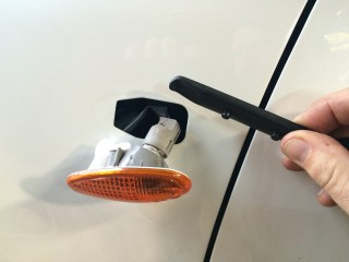 Tool for removing side marker light. I used a plastic bike tire tool.