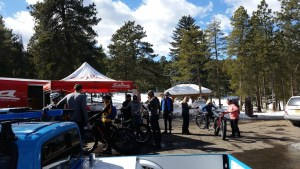 snow bike demo pkg lot