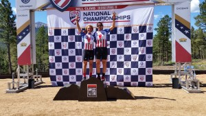 Clark Rachfal wins the blind/tandem division at the 2016 USA Cycling Hill Climb National Championships on Pikes Peak