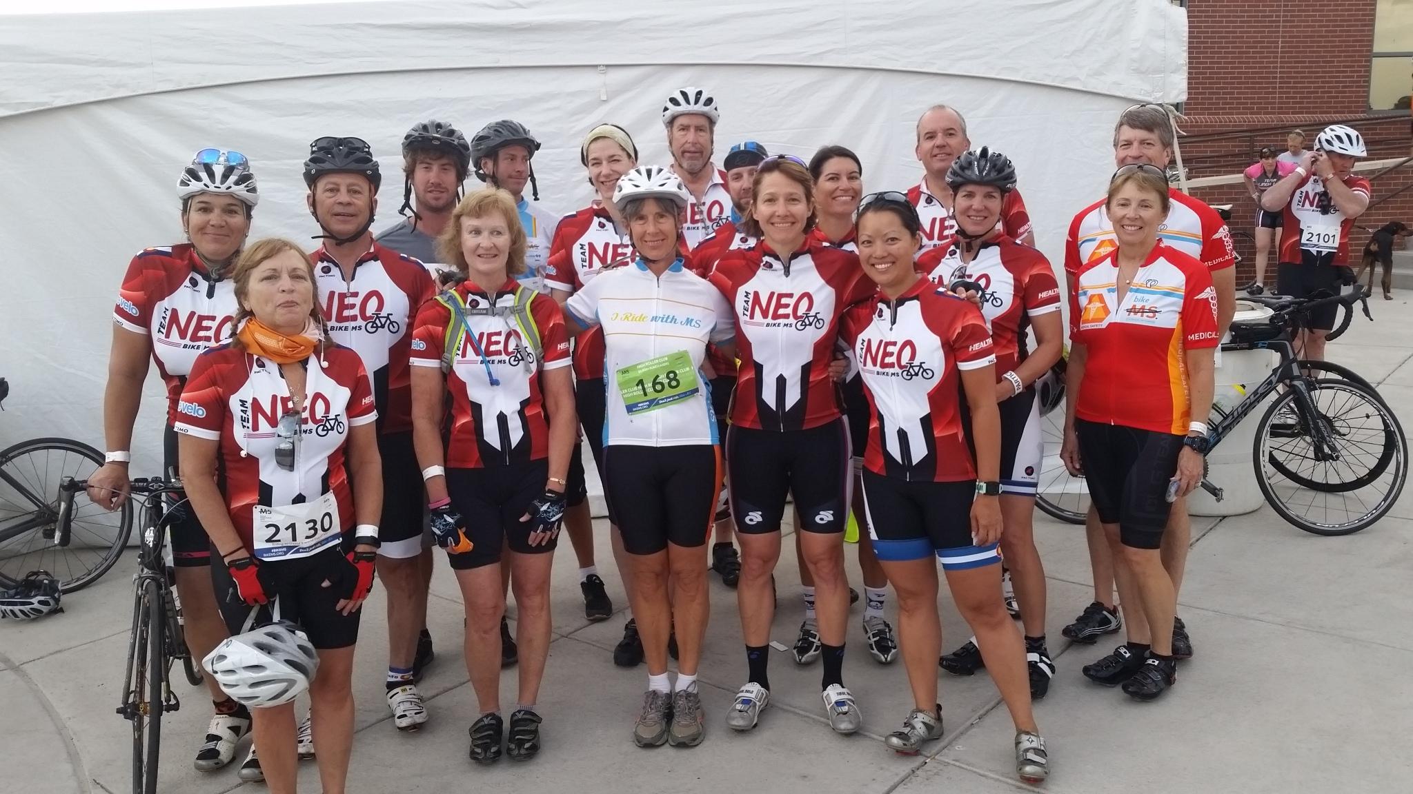 Team NEO Bike MS group photo, 2016 event