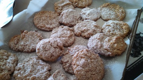 Powdered Almond Lime cookies