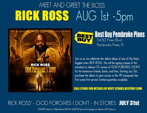 rick ross in store signing 305magazine miami fl 305 magazine