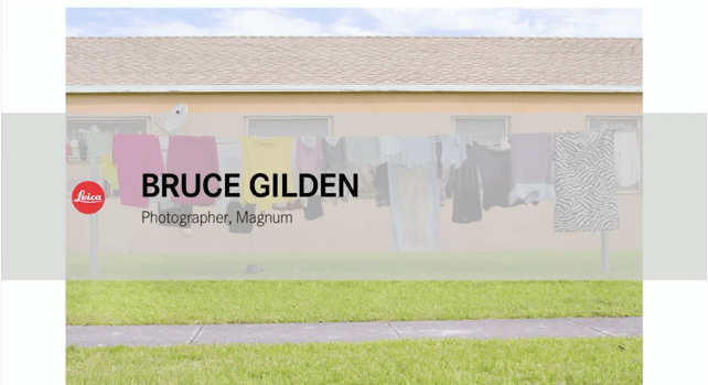 VIDEO: Bruce Gilden - Postcards from America, Magnum Miami