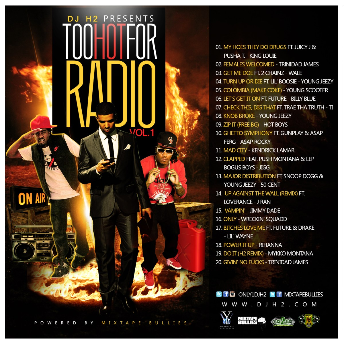 "DOWNLOAD: DJ H2 - ""Too Hot For Radio Vol. 1"""