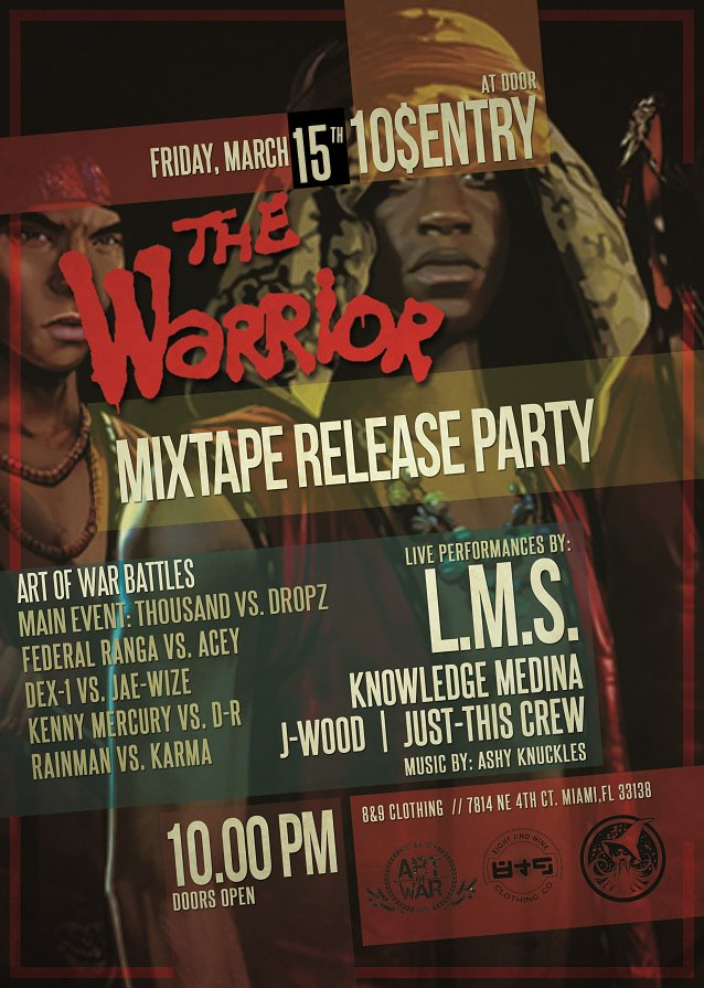 EVENT: LMS - The Warrior Mixtape Release Party - Tonight