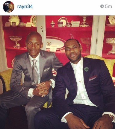 Ray Allen and LeBron James at White House 2014.jpg