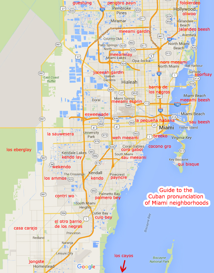 How to pronounce Miami neighborhoods in Spanish
