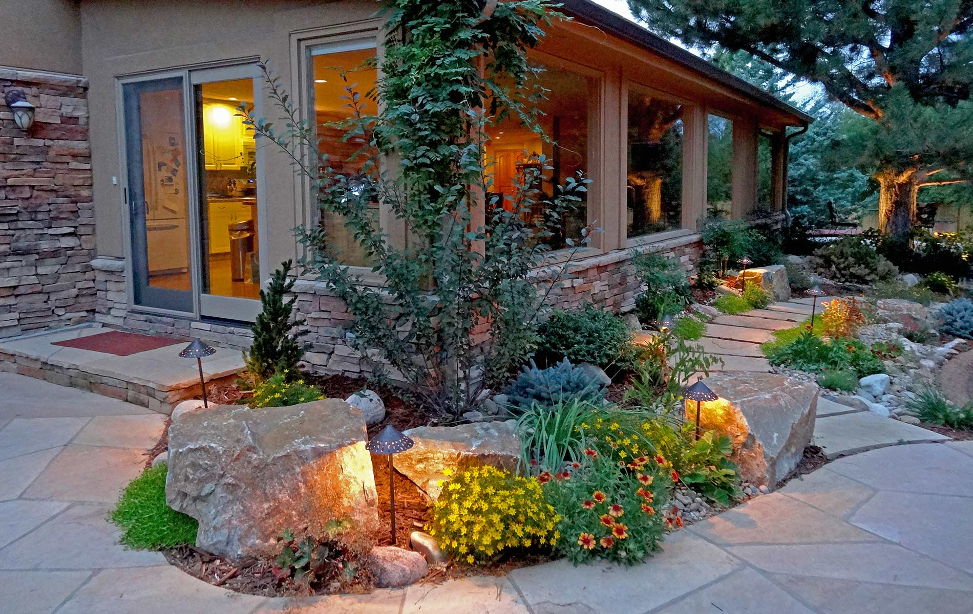 Rustic Ranch and Large Scale Landscape in Greenwood ... on Mountain Backyard Ideas  id=91941