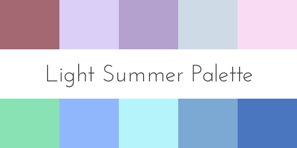 color analysis light summer palette