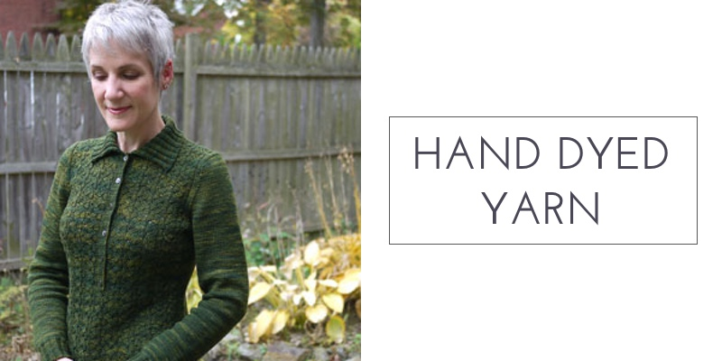 set-in sleeves hand dyed yarn