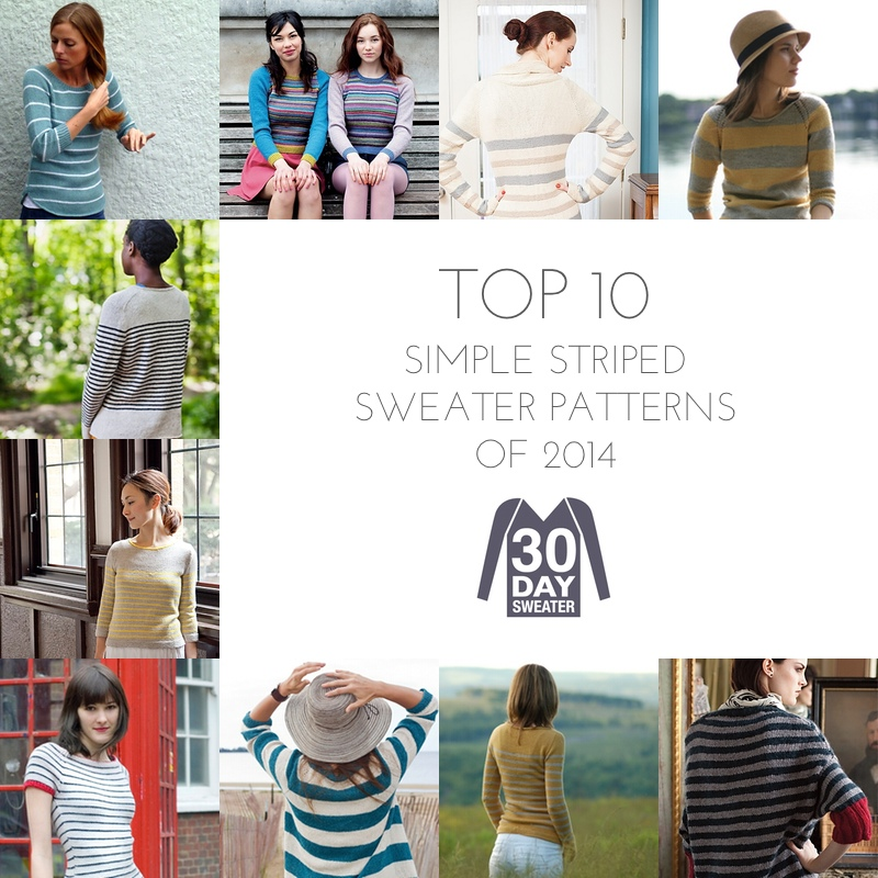 10 striped sweater patterns