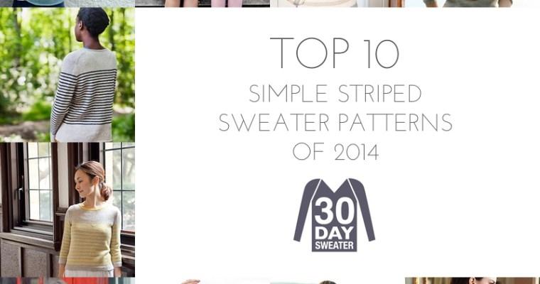 10 striped sweater patterns