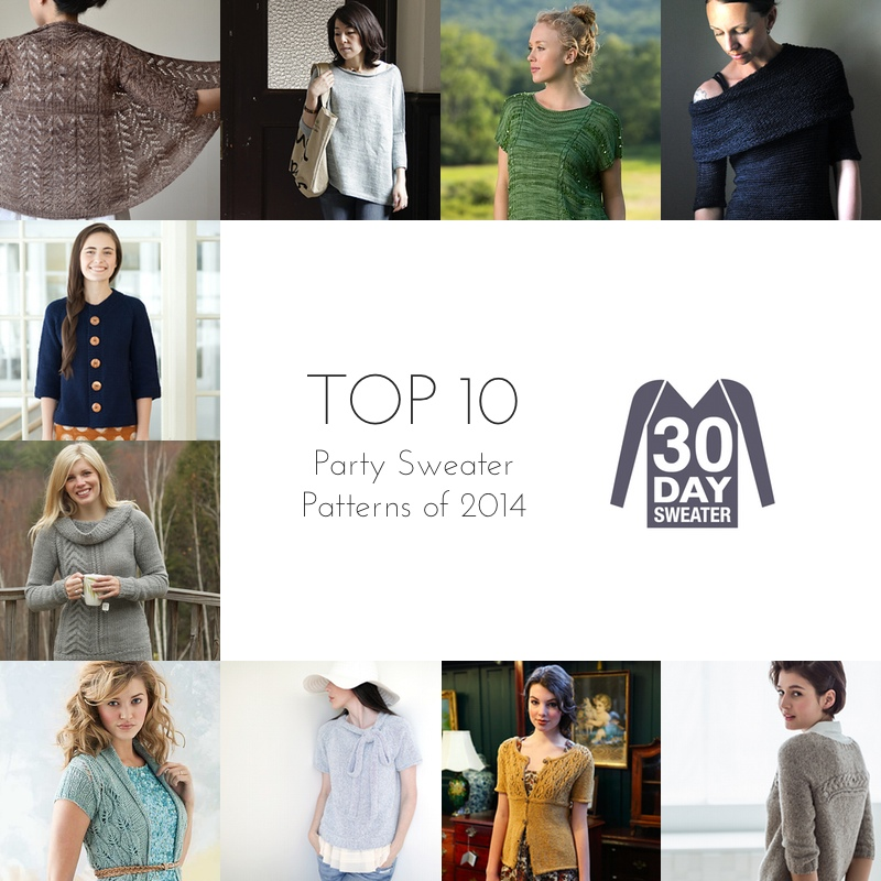 top ten party sweater patterns