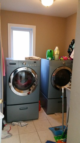 My crazy small and messy laundry room!
