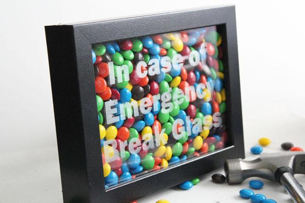 in case emergency break glass craft