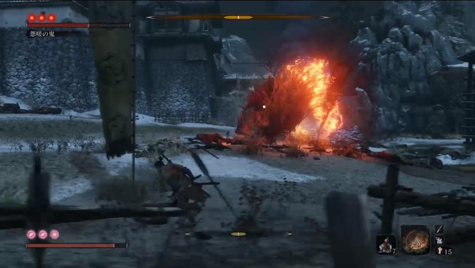 怨嗟の鬼 戦闘