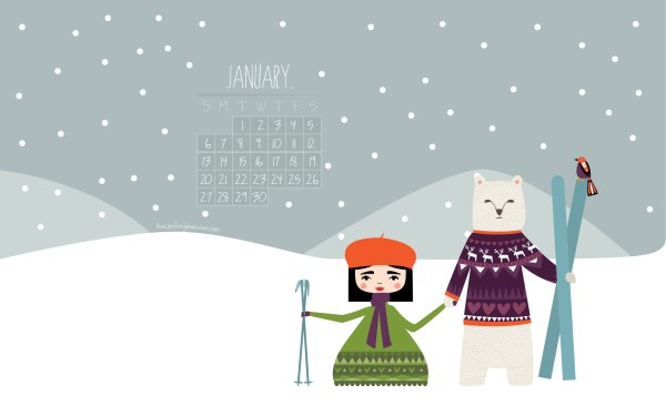 january-desktop-calendar-2013-illustrated-polarbear