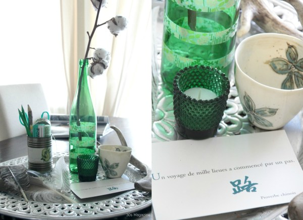 emerald green vignette