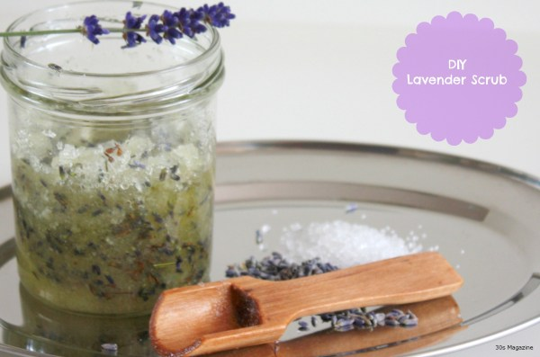 homemade lavender salt scrub