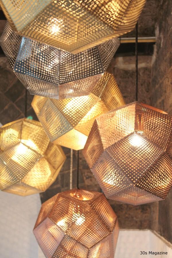 Tom Dixon pendants copper