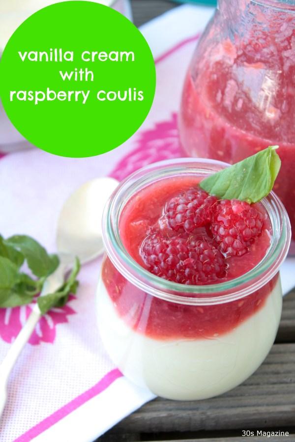 cream with coulis recipe