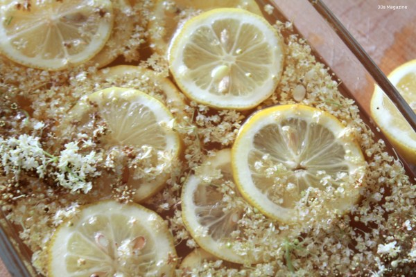 elderflower syrup making