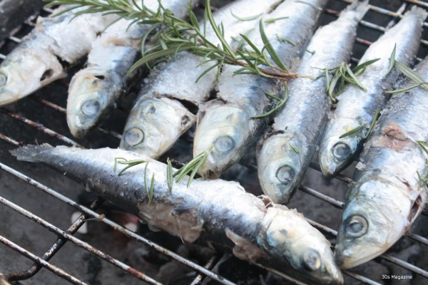 sardines on the barbecue