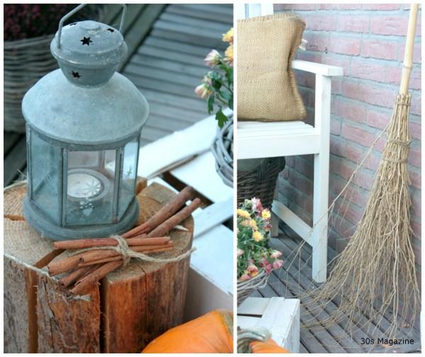 broom and lantern
