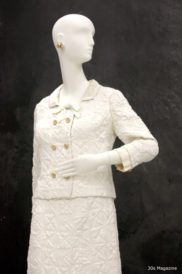 Chanel white suit