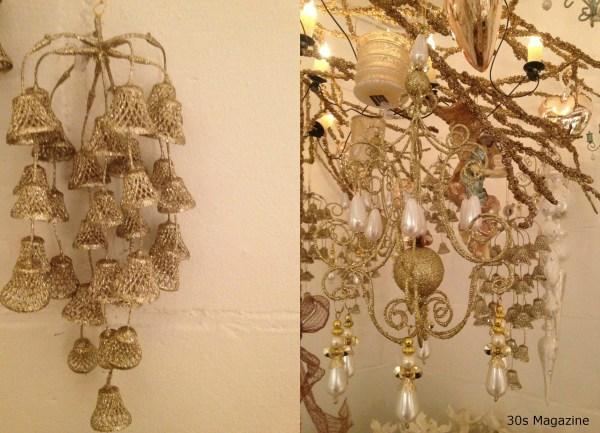 gold xmas ornaments