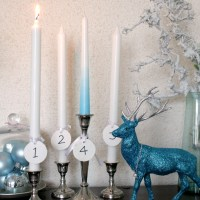 Happy Advent with an ombre candle